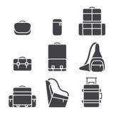 Camera bag icon set Royalty Free Stock Images