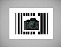 Camera bar ups code illustration design Stock Image