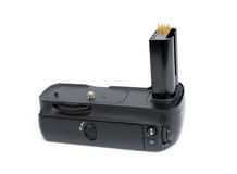 Camera battery grip Royalty Free Stock Images