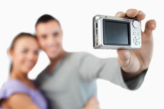 Camera being used to take a picture Royalty Free Stock Image