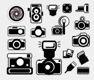 Camera Black Icons Royalty Free Stock Images