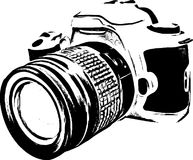 Line Art Camera Silhouette /Eps Stock Images