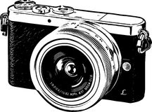 Line Art Camera Silhouette /eps Royalty Free Stock Image