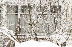 Camera bloccata in neve Fotografia Stock Libera da Diritti