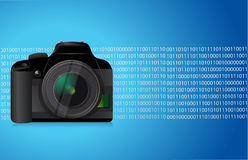 Camera blue graphic Royalty Free Stock Photos