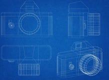 Camera Blueprint Royalty Free Stock Image