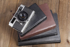 Camera On Books Stock Photography