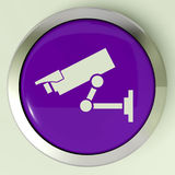 Camera Button Shows CCTV and Web Security Royalty Free Stock Photography