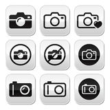 Camera  buttons set Stock Photos
