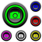 Camera buttons set. On white background Stock Photo