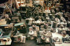 Camera Cameras Vintage Collection Stock Photo