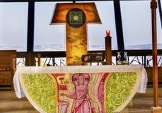 Camera Capernaum Israele del ` s di Peter della chiesa cattolica Fotografia Stock