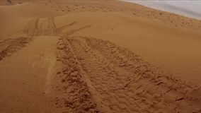 Camera car in the sahara desert stock video footage
