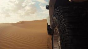 Camera car in the sahara desert stock footage
