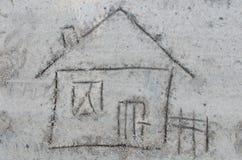 Camera che attinge sabbia Fotografia Stock Libera da Diritti