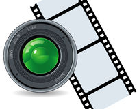 Camera and cinefilm Royalty Free Stock Image