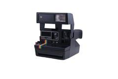 Camera. Classic Polaroid camera from past Stock Photography