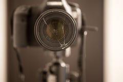 The camera close-up , broken lenses Royalty Free Stock Photography