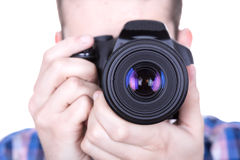 Camera closeup Royalty Free Stock Image