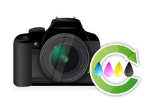 Camera cmyk color cycle concept. Illustration design over white Vector Illustration