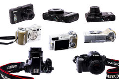 Camera collection Royalty Free Stock Photo