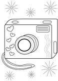 Camera coloring page Royalty Free Stock Image