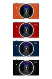 Camera Colours. Color small object film little object shooting compa compact royalty free illustration