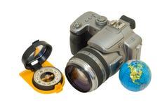 Camera and compass 1 Royalty Free Stock Photos