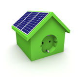 Camera con i comitati solari Immagini Stock Libere da Diritti