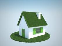 Camera con il tetto verde di gras royalty illustrazione gratis
