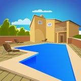 Camera con la piscina Fotografie Stock