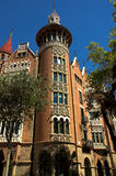 Camera con le guglie nella città di Barcellona Fotografie Stock Libere da Diritti