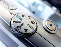 Camera control. To take a photograph close up Royalty Free Stock Photo