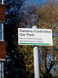 Camera controlled car park sign Stock Image