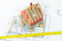 L'architetto progetta la nuova casa Fotografie Stock