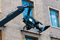 Camera crane Royalty Free Stock Photography