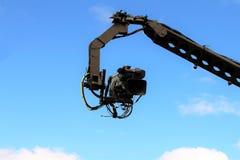 Camera on crane shooting Royalty Free Stock Image
