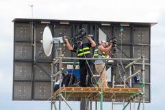 Camera crew Stock Photo
