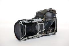 Camera cutaway stock photo