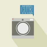 Camera. With cute word banner abstract background Royalty Free Stock Photo