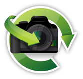 Camera cycle graphic Stock Image