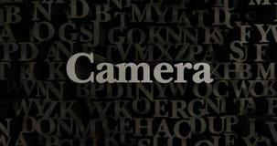 Camera - 3D teruggegeven metaal gezette krantekopillustratie Royalty-vrije Stock Afbeeldingen