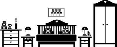Camera da letto royalty illustrazione gratis