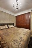 Camera da letto fotografie stock