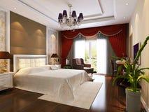 camera da letto 3d che rende 2 Immagini Stock