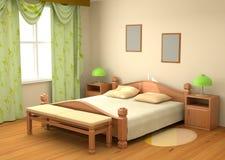 Camera da letto 3d interno Fotografia Stock Libera da Diritti