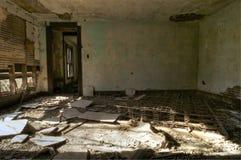 Camera da letto abbandonata Fotografie Stock Libere da Diritti