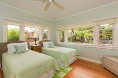 Camera da letto accogliente Fotografia Stock