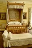 Camera da letto ad una bella casa di campagna vicino a Leeds West Yorkshire che non è una proprietà di fiducia nazionale Fotografia Stock Libera da Diritti