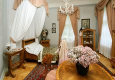 Camera da letto antica Fotografia Stock